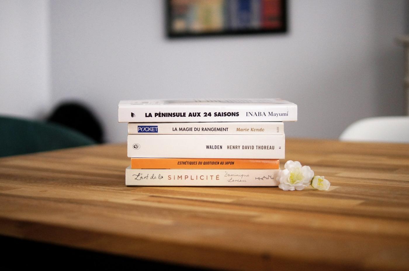 Des livres minimalistes
